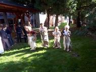 Uczniowie klasy 1a i 3a w Kraszowickiej Zagrodzie